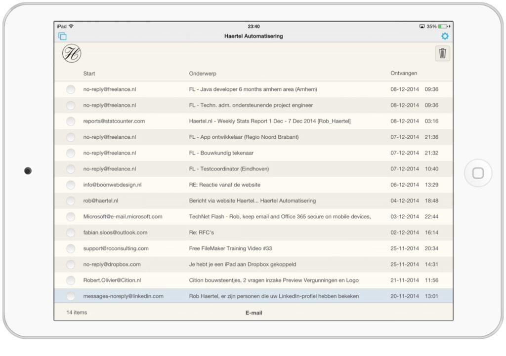 iPad E-mail