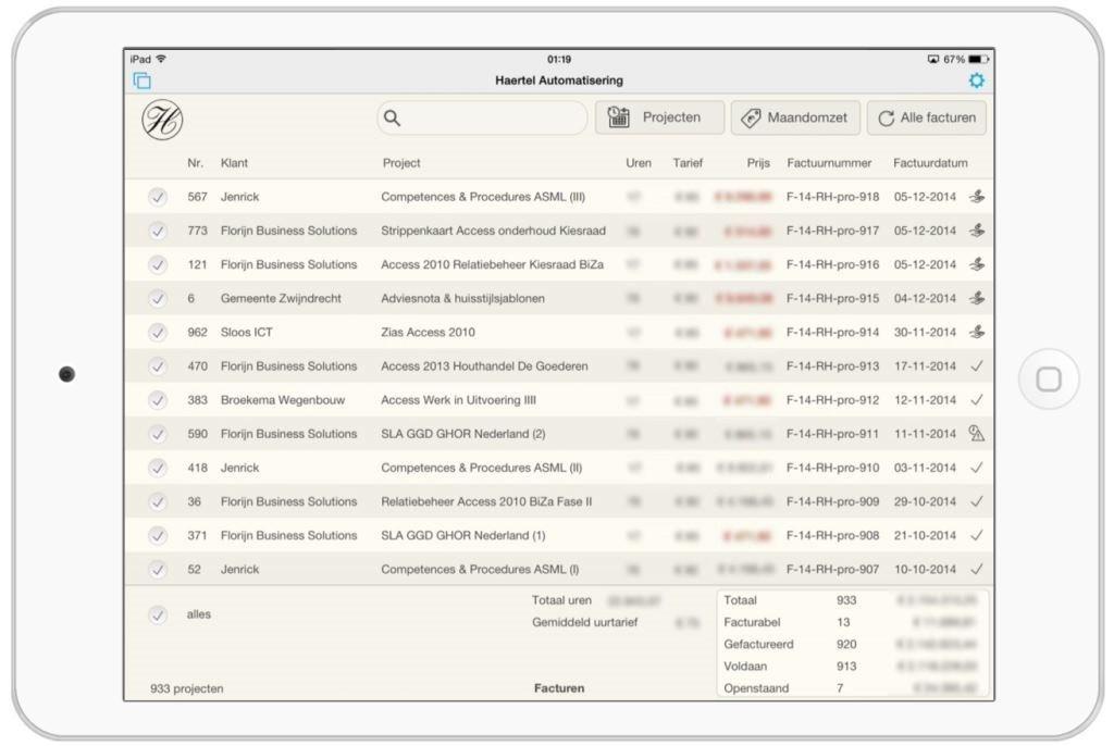 iPad Facturen